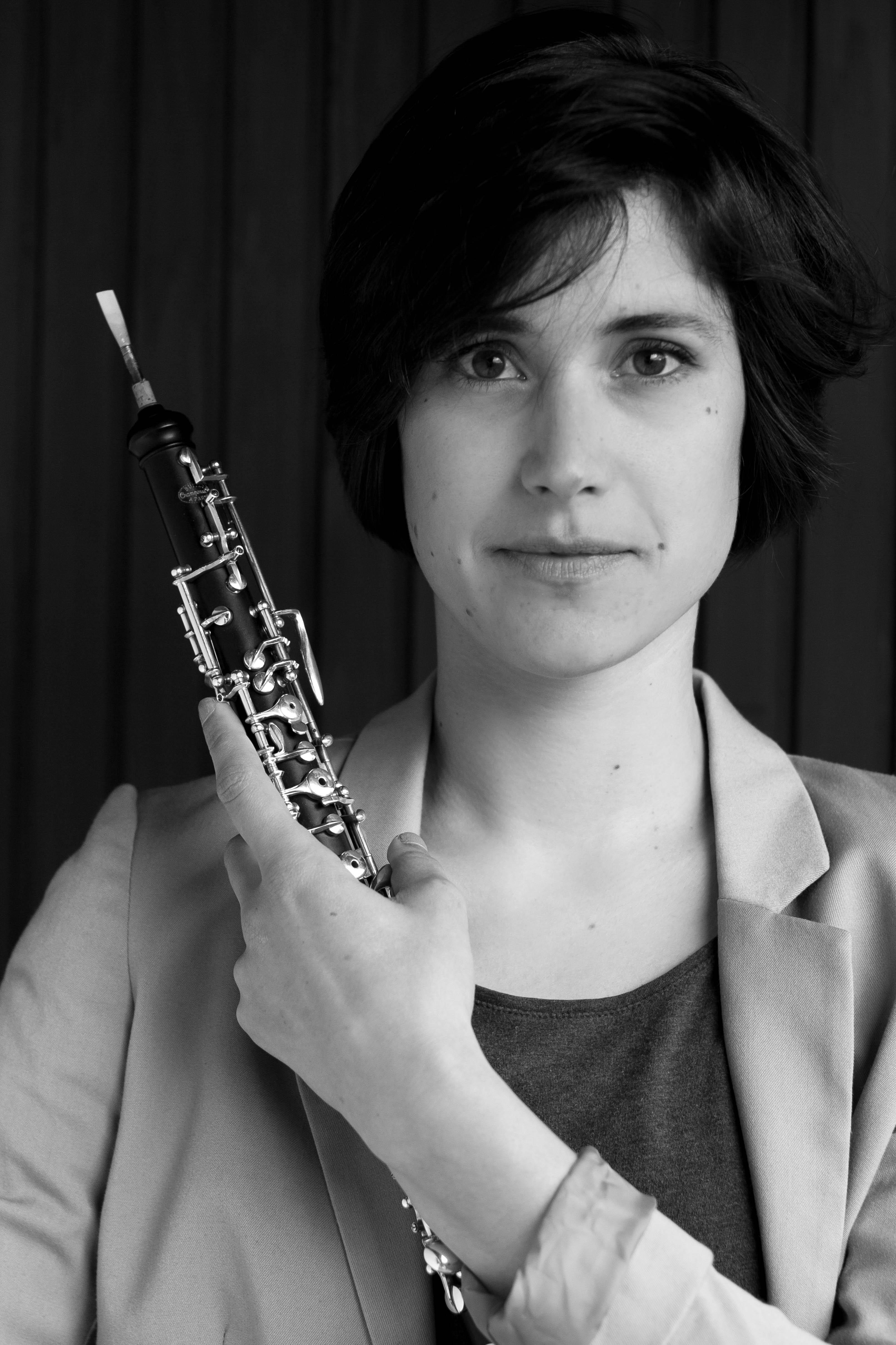 Ziva Lostrek mit Oboe